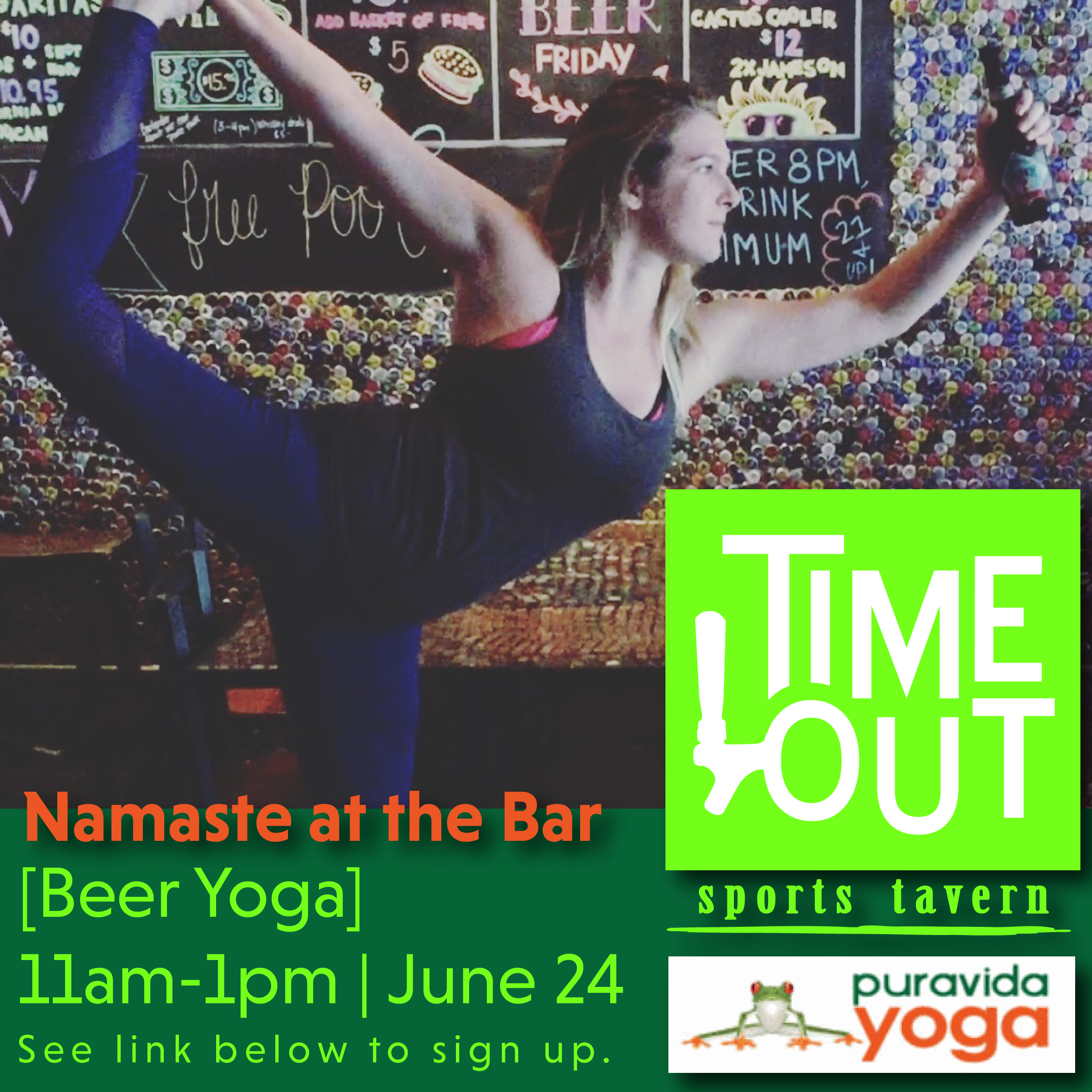 San Diego Beer Yoga Comes to Time Out Sports Bar